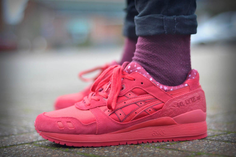 sneakers asics gel lyte iii magenta bordeaux