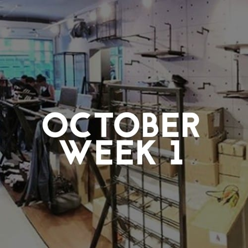 OCOTOBER WEEK 1
