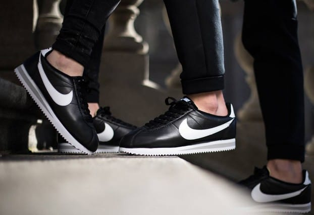 nike cortez with fat laces