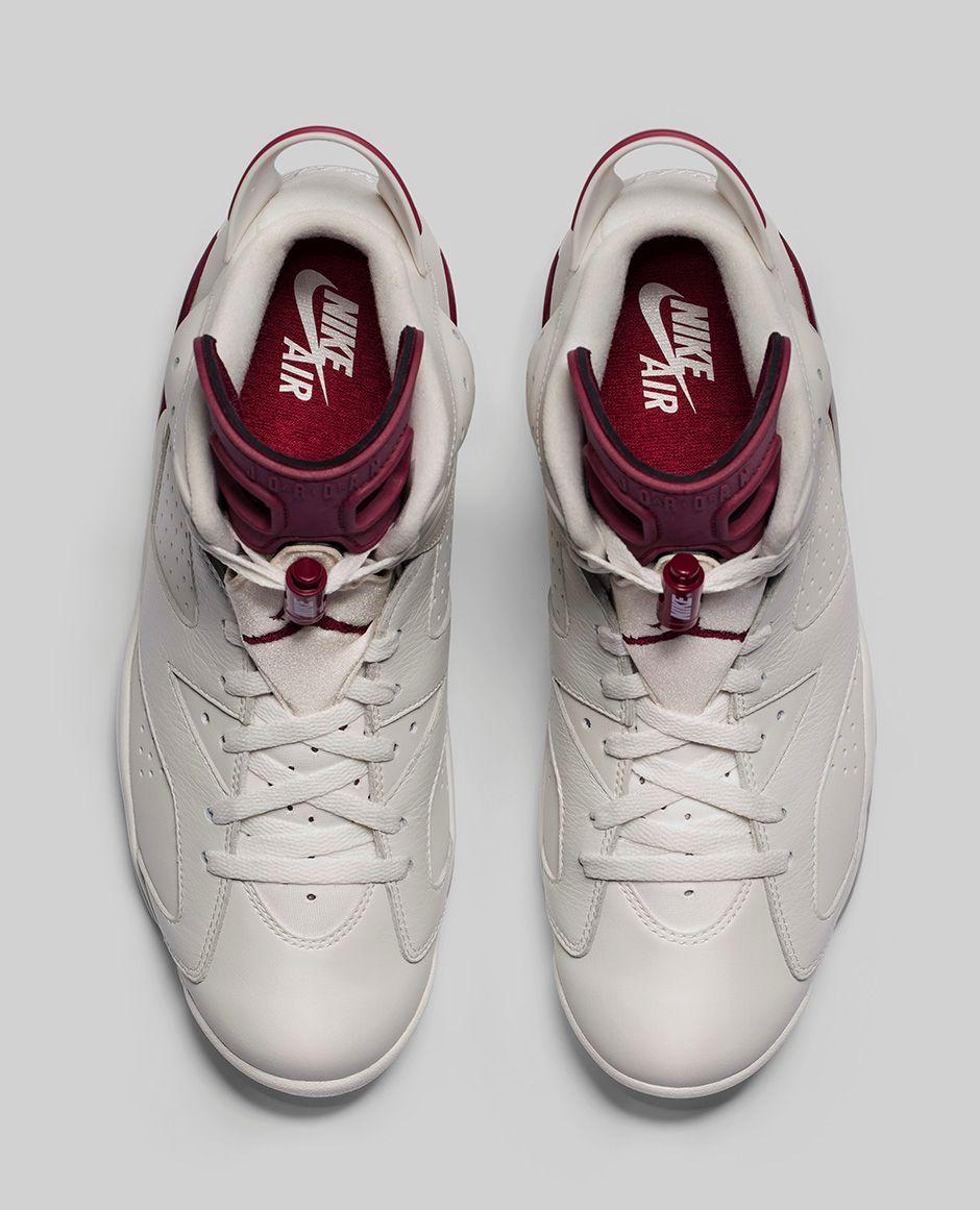 ... Air Jordan 6 in Maroon. image (2) 7852b4c6ce