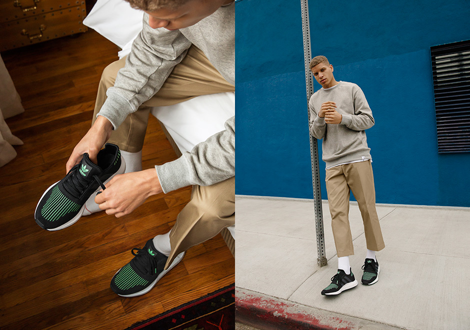 Adidas Swift Run - Black/White