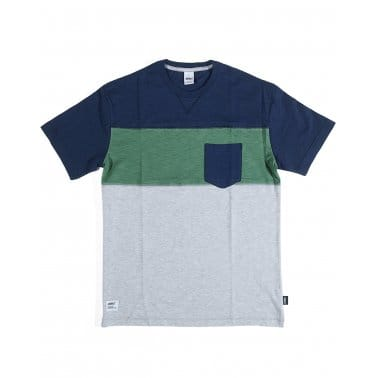 Colour Block Tee Navy/Green