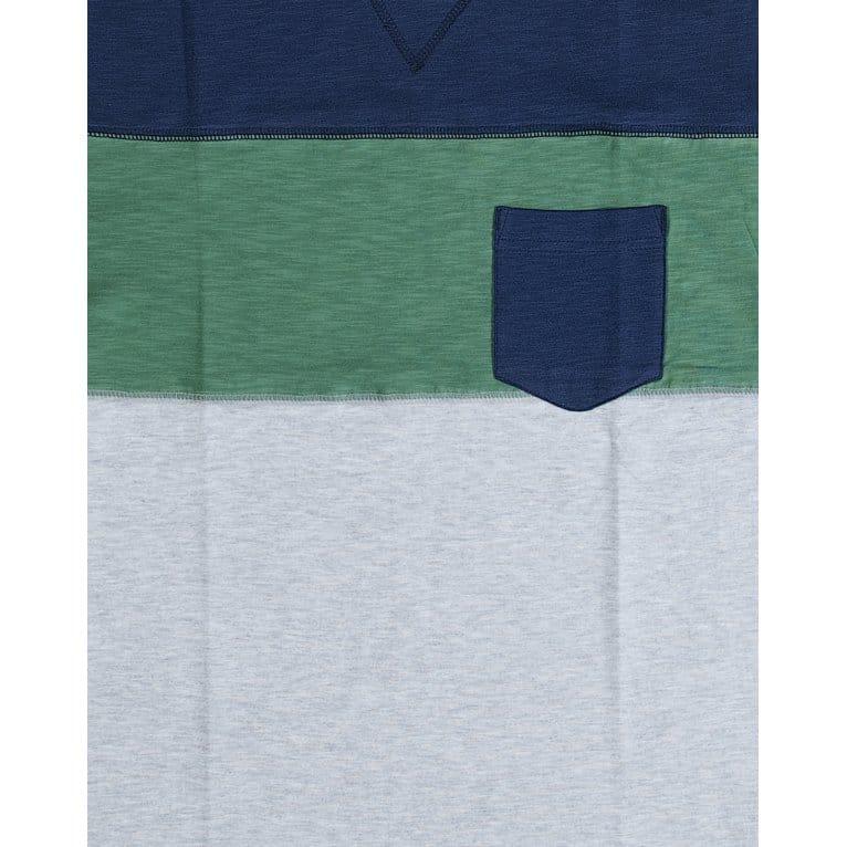 Addict Colour Block Tee Navy/Green