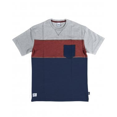 Colour Block Tee Red/Navy