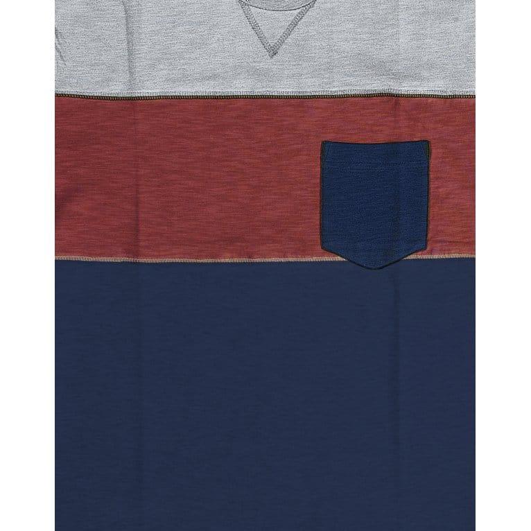 Addict Colour Block Tee Red/Navy