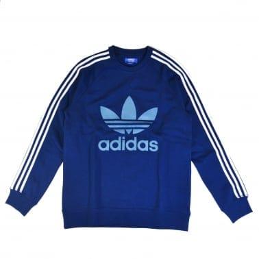 Adidas Trefoil Crew Sweatshirt- Shadow Blue