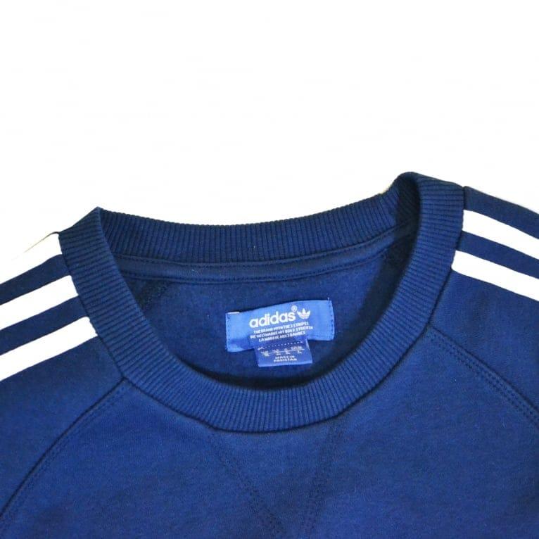 Adidas Originals Adidas Trefoil Crew Sweatshirt- Shadow Blue
