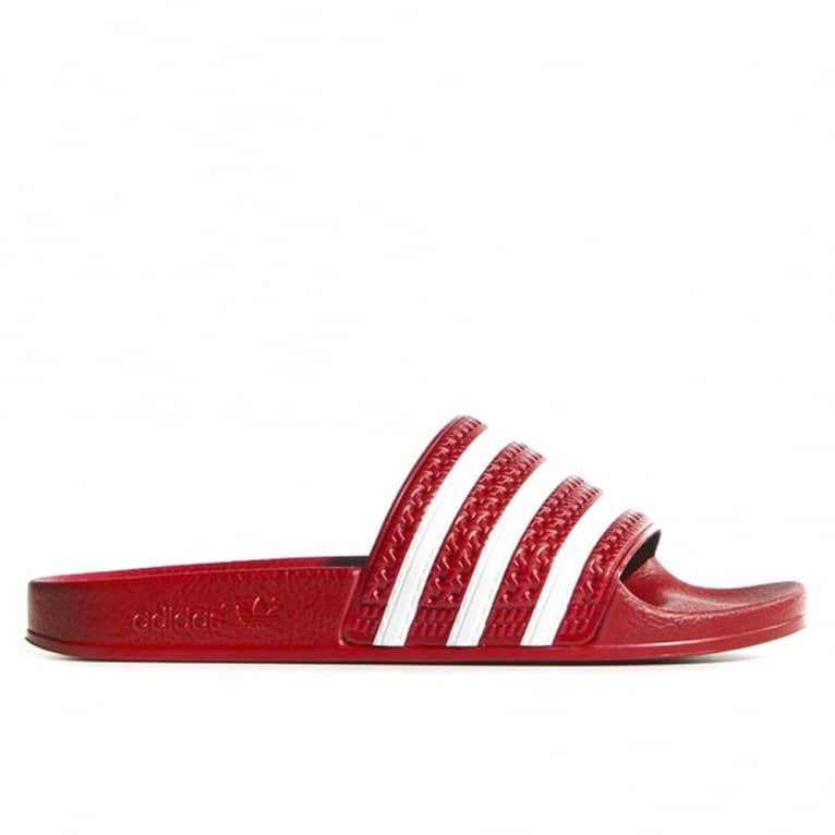 Adidas Originals Adilette - Scarlet/White