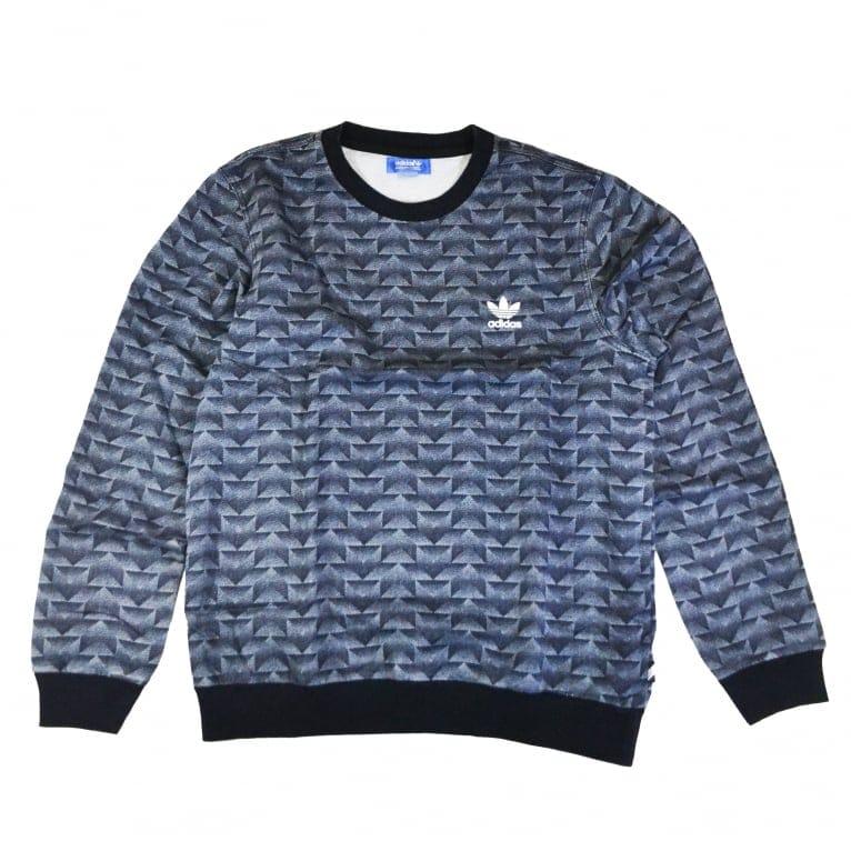 Adidas Originals French Terry Denim Crew Sweatshirt