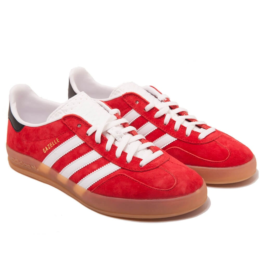 Adidas Originals Gazelle Indoor Red White Black  0119a431dd93