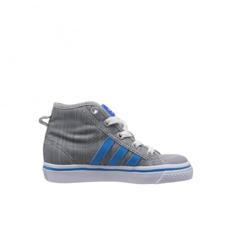 Adidas Originals Nizza Hi Kids Mid Grey/Blue - Smaller Sizes