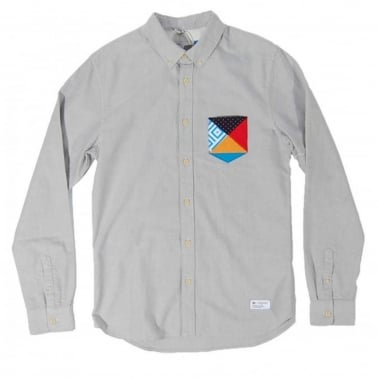 Patchwork Shirt - Lead/White