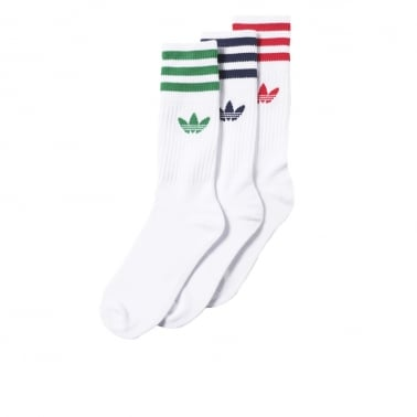 Solid Crew Sock - Pack Of Three