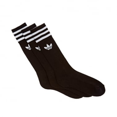 Solid Crew Socks - Pack of Three