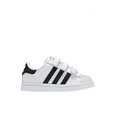 Superstar 2 Infants White/Black