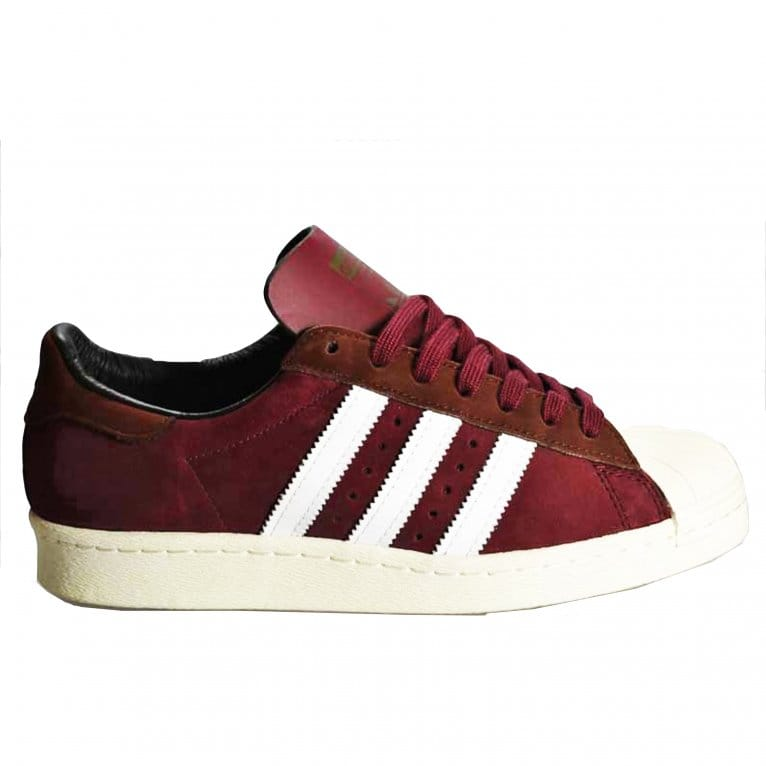 Adidas Originals Superstar 80's - Cardinal/White