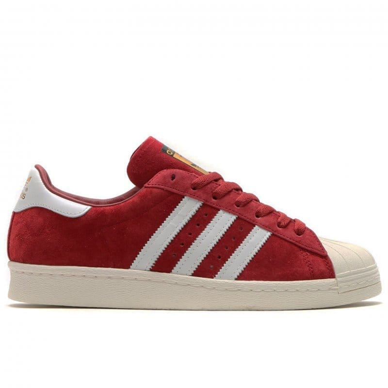 reputable site ce46d 57f5a Superstar 80s Deluxe Suede - Burgundy White