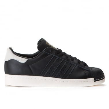 Superstar 80's Womens - Black/Black/White