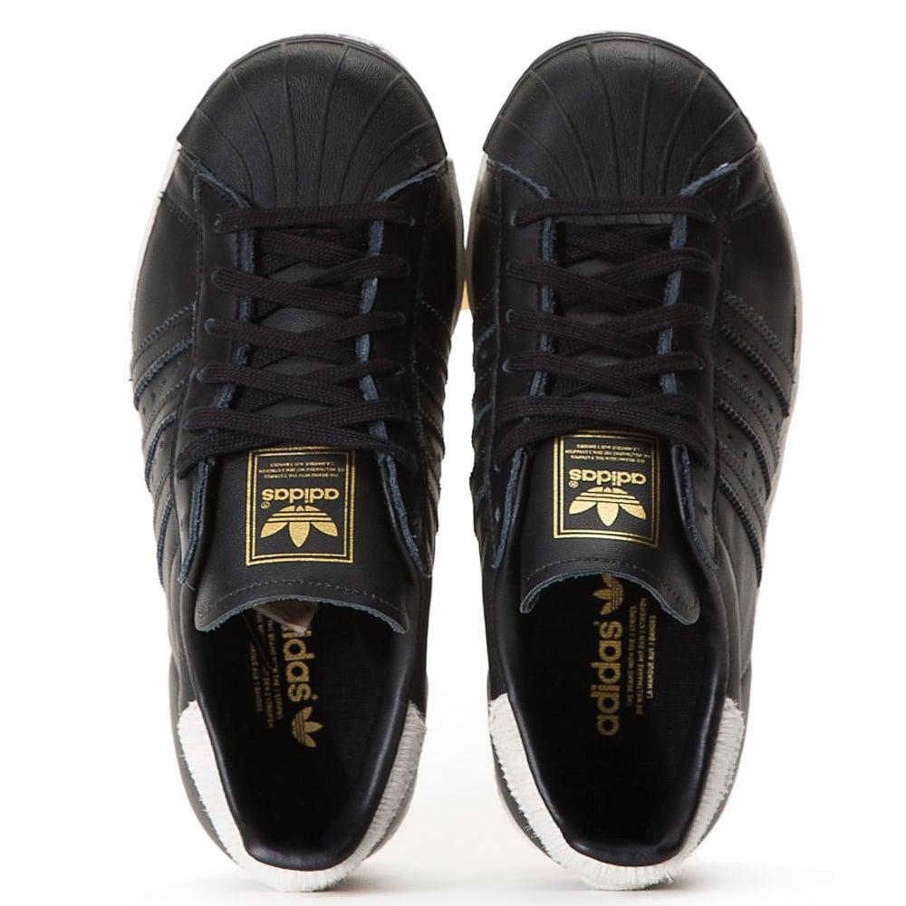 klasyczny tak tanio więcej zdjęć adidas originals Superstar 80's Womens - Black/Black/White