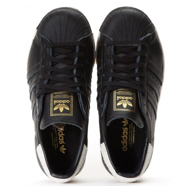 Adidas Originals Superstar 80's Womens - Black/Black/White