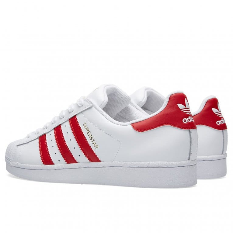 Adidas Originals Superstar Foundation - White/Scarlet