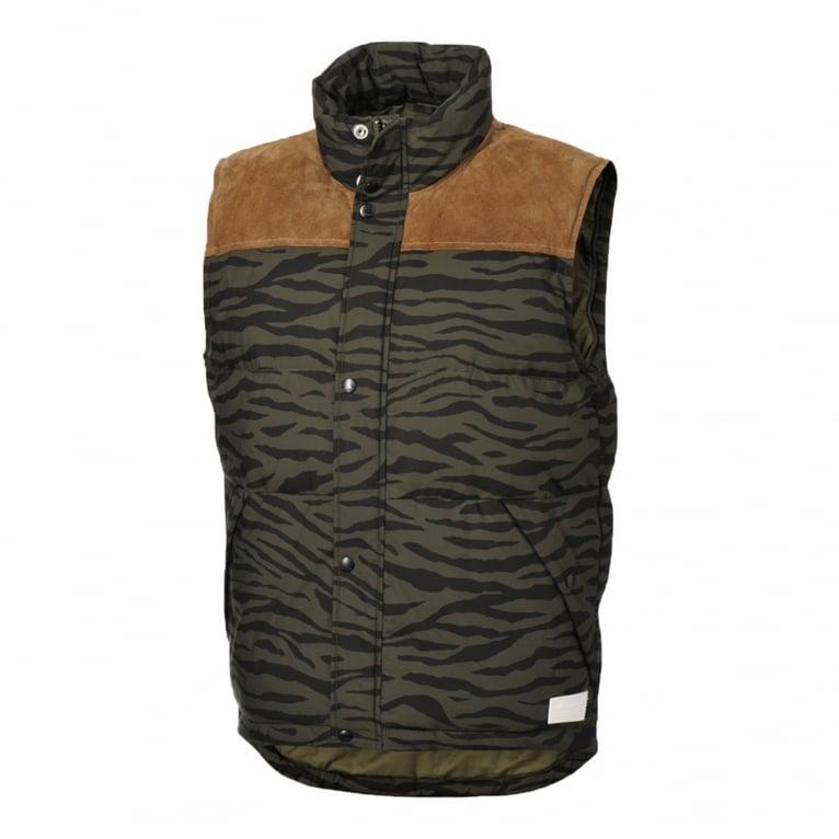 Adidas Originals Tiger Camo Padded Vest - Night Cargo
