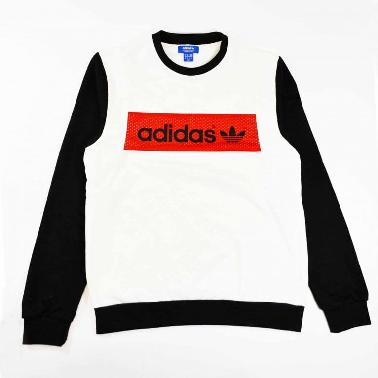 Adidas Originals Vintage Blocking Crew Top White/Black