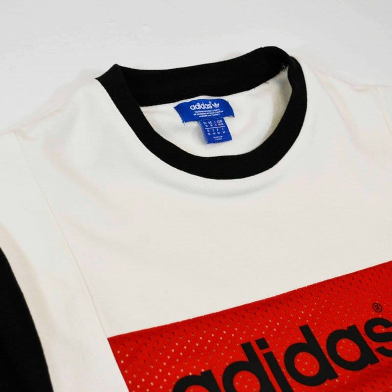 Adidas Originals Vintage Blocking Crew Top White/Black