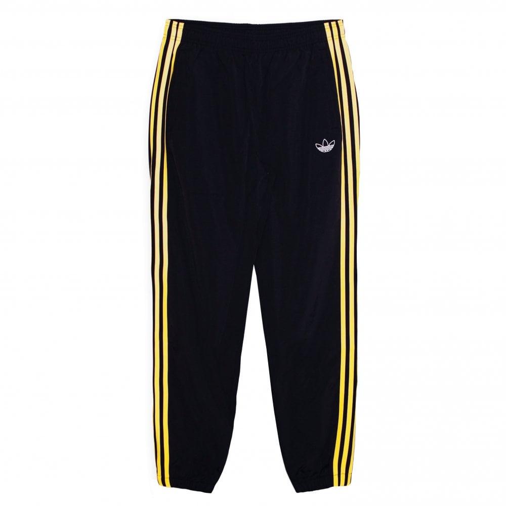 134ebdbe Woven 3 Stripe Pant - Black/Gold