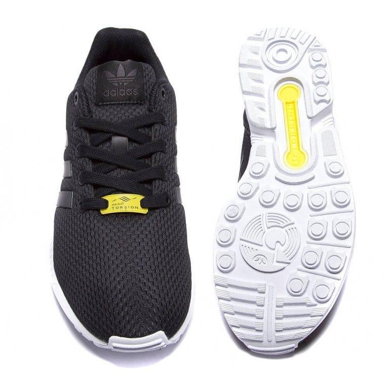 sale retailer 76d06 8eaaa adidas originals ZX Flux Kids - Black/White
