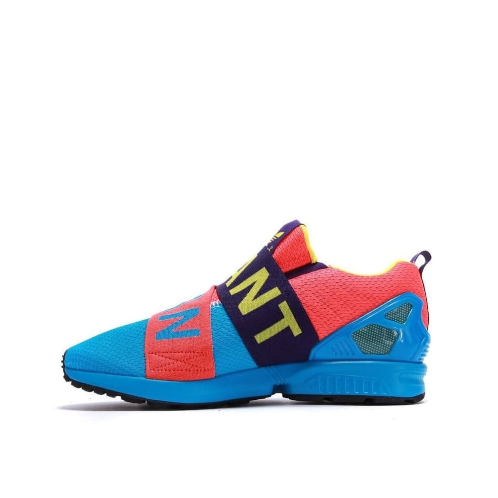 new style 7314b 454a5 adidas originals ZX Flux Slip-on - Blue/Red/Purple