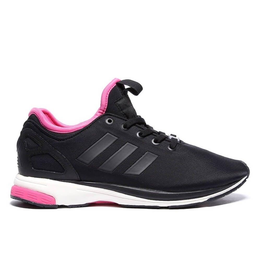 the latest 481a0 16fd6 adidas originals ZX Flux Tech NPS - Black/White/Pink