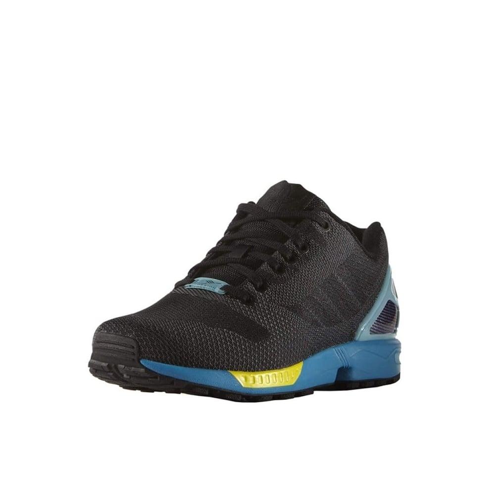 4891d9b06a0c1 Adidas ZX Flux Weave in Black Aqua