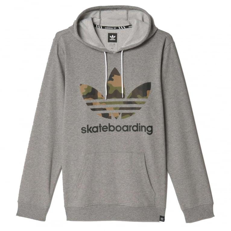 Adidas Skateboarding 3.0 Camo Hoodie - Core Heather Grey