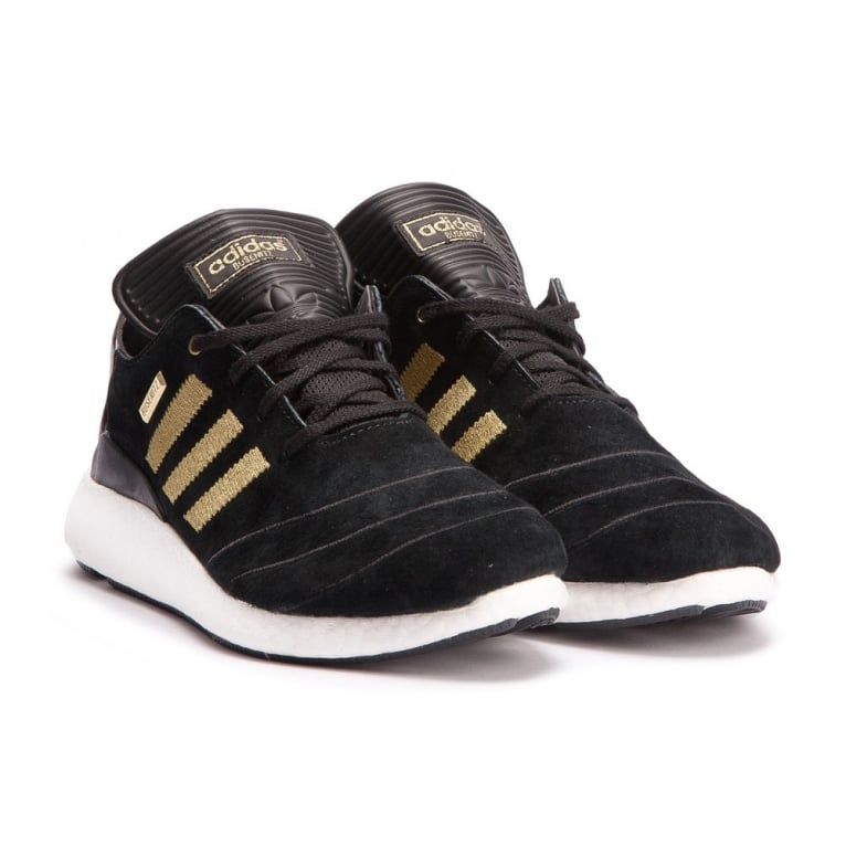 "Adidas Skateboarding Busenitz Pureboost '10th Anniversary"" - Black/Gold"