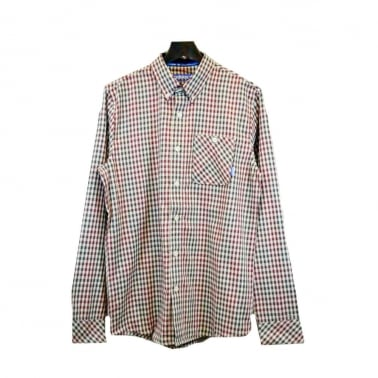 Checkered Gonz Shirt - Bone/Red