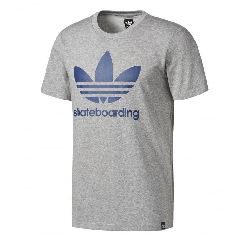 Adidas Skateboarding Climacool 3.0 T-Shirt - Heather Grey/Blue