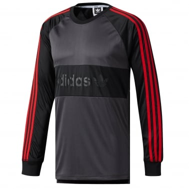 Goalie Long Sleeve T-Shirt - Black/Scarlet