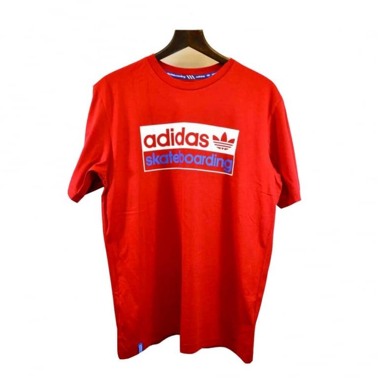 Adidas Skateboarding Logo 2 Tee - University Red