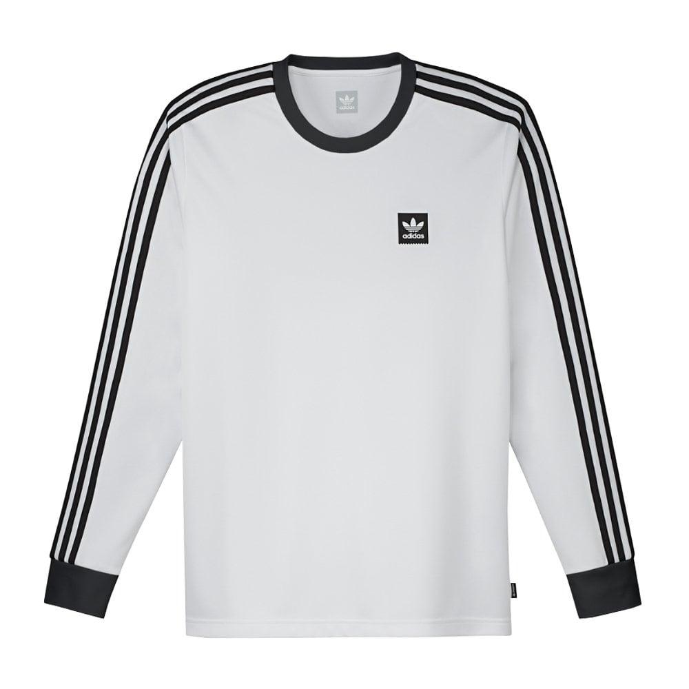 Adidas Skateboarding Long Sleeve Club Jersey - White/Black