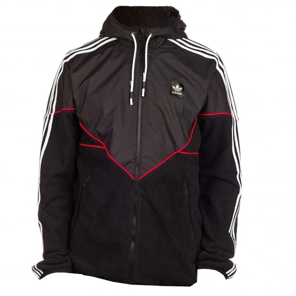 570909d4884c Adidas Skateboarding Premiere Windbreaker Jacket - Blk/Scarlet