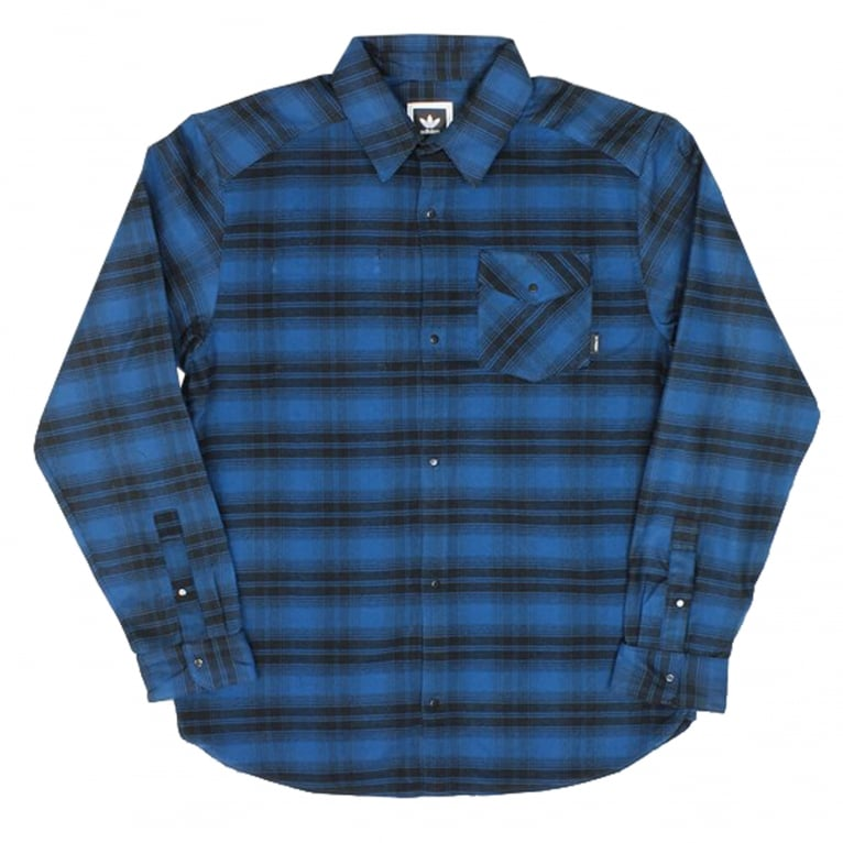 Adidas Skateboarding Stretch Flannel - Blue Night/Black