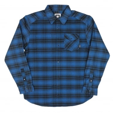 Stretch Flannel - Blue Night/Black