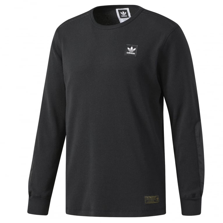 Adidas Skateboarding Thermal Long Sleeve T-Shirt - Black
