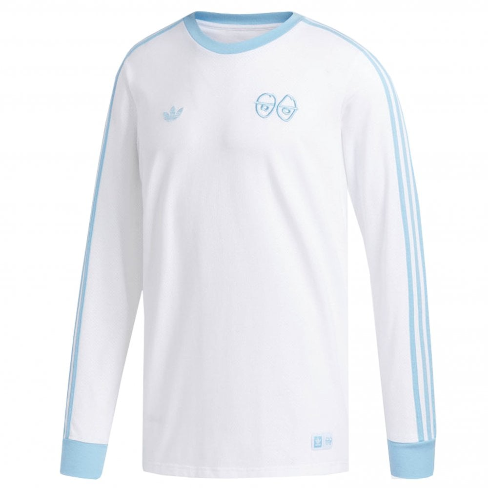 3cb17679da4 x Krooked Long Sleeve T-Shirt - White Clear Blue