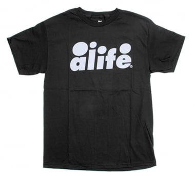 Bubble Text T-shirt - Jet Black