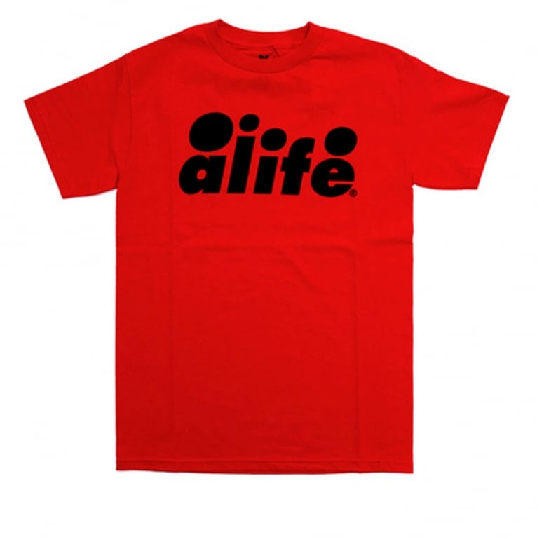 Alife Bubble Text T-shirt - True Red
