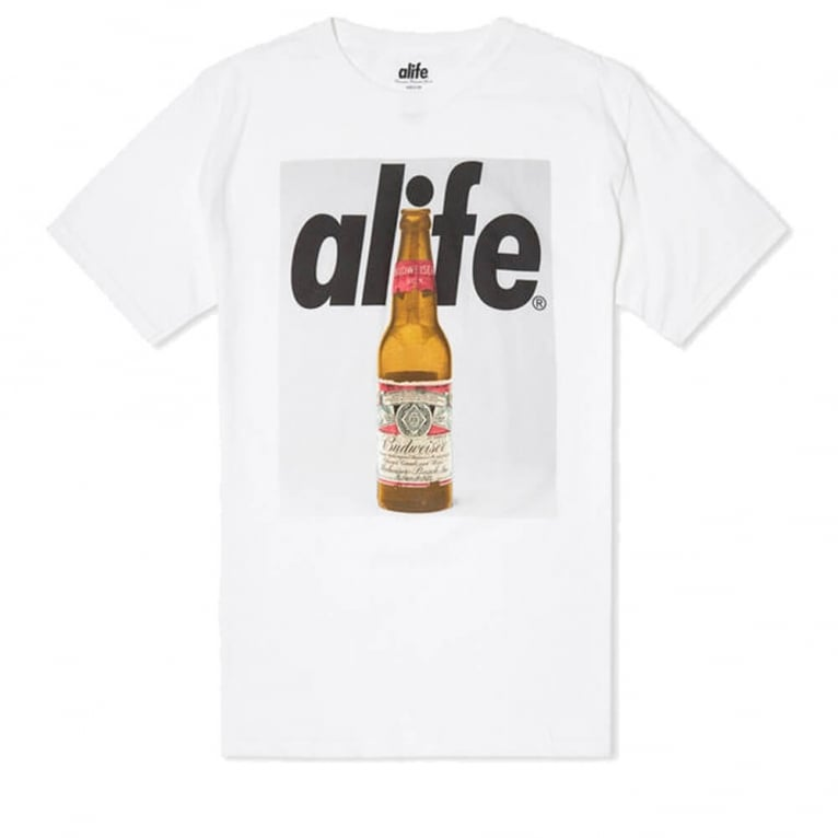 Alife Budweiser Bottle T-shirt - White