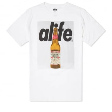 Budweiser Bottle T-shirt - White