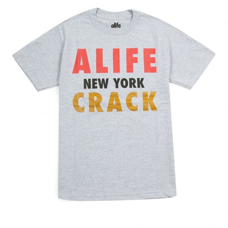 Alife Crack T-shirt - Heather Grey